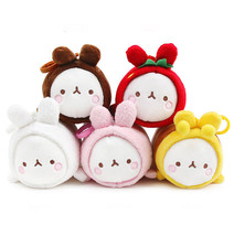 "Molang 5"" Lieing Cute Rabbit Bunny Plush Stuffed Doll Toy Key Ring Holde... - $11.99"