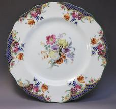 Royal Doulton English Plate Porcelain Dinnerware Iris Roses Daisy Flowers  - $17.82