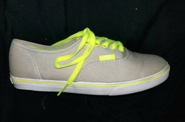 Women's Vans Athletic Shoes Size 5 Grey Neon Yellow Mint Condition - $13.99