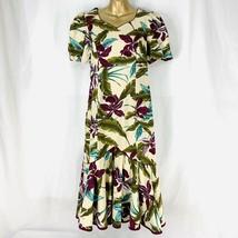 Hilo Hattie Dress Muumuu Made in Hawaii Hibiscus Tropical Floral Womens 10 - $57.00