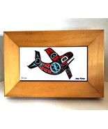 Alaska Orca Wooden Puzzle Chief Mahon Painted Signed Tile Decorative Box... - $28.70