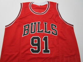 DENNIS RODMAN / NBA HALL OF FAME / AUTOGRAPHED CHICAGO BULLS CUSTOM JERSEY / COA image 2