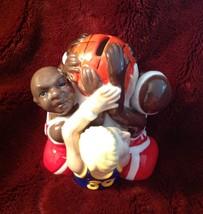 Coin Bank Fitz & Floyd Basketball Players Porcelain Multi Cultural - $16.78