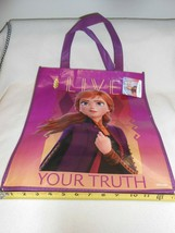New large Disney Frozen II Live Your Truth Anna reusable tote shopping bag - $6.44