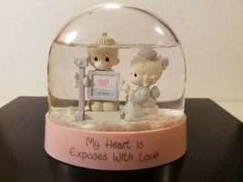 "1991 Precious Moments Water Dome Snow Globe "" My Heart Is Exposed with L... - $12.85"