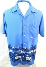 TOMMY HILFIGER Men Hawaiian ALOHA shirt pit to pit 23 sz L rayon beach c... - $19.83