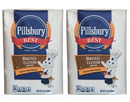 2 BAGS 5LB Of PILLSBURY BEST BREAD FLOUR 10 LBS TOTAL BREAD MACHINE EXP 21 - $27.00