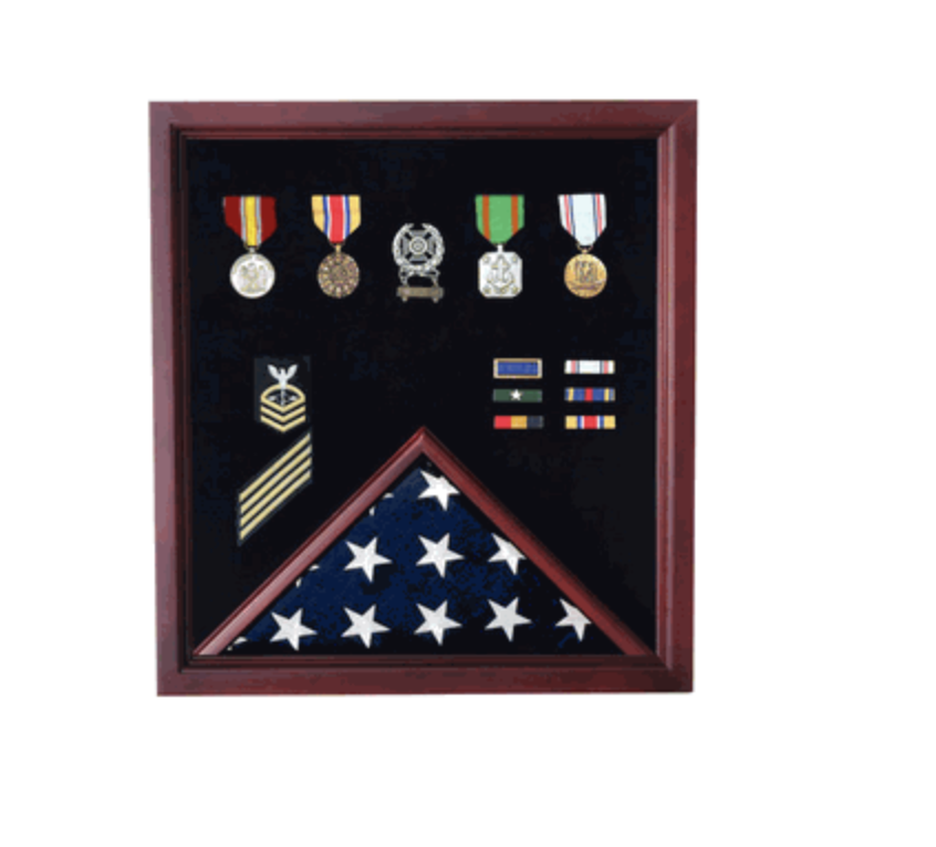 Primary image for RETIREMENT FLAG AND BADGE MILITARY DISPLAY CASE SHADOW BOX