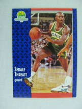 Sedale Threatt Seattle Supersonics 1991 Fleer Basketball Card 196 - $0.98