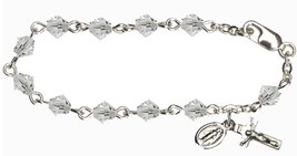 Infant Rosary Bracelets - Crystal Beads - Sterling Silver