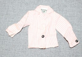 Vintage Ideal Tammy Pink and White Striped Blouse Missing Button - $14.03