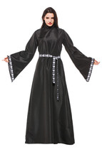 Halloween Costume Adult Reaper Cosplay Zombie Wizard Hooed Cape Party Ou... - $46.83