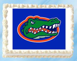 """Florida Gators Edible Image Topper Cupcake Cake Frosting 1/4 Sheet 8.5 x 11"""" - $11.75"""