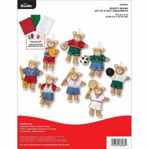 Bucilla - 'Sporty Bears Ornaments' Felt Applique Embroidery Kit - 86988E - $26.99