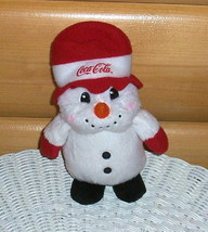 """Coca Cola Coke Sweet 7"""" Plush Carrot Nose Snowman in Red Top Hat & Mittens - $6.89"""