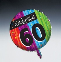 Milestones Foil Balloon Age 60 Milestone Birthday Party - $3.13