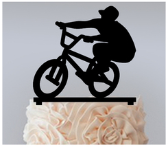 Ca072 Decorations Cake topper,Cupcake topper,silhouette bmx freestyle : 11 pcs - $20.00
