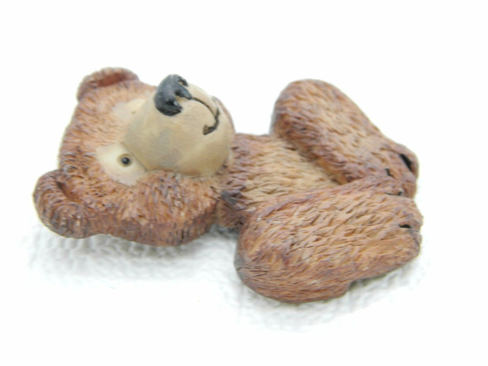 Vintage 1996 T.H.T. Polymer Brown Bear Large Pin Brooch