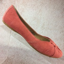 Born Liddy RARE Color! Coral Pink Suede Leather Ballet Flats Shoes Slip ... - $29.91
