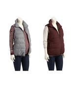 NEW Old Navy Maternity Outerwear ~ Fleece Lined Quilted Vest ~ Burgundy ... - $29.95