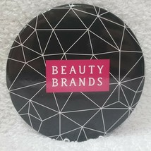 "Beauty Brands Mirror BLACK Web Purse Travel Makeup Round Light 2 3/4"" In... - $7.91"