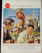 1958 COKE COCA-COLA VINTAGE PRINT AD! WORLD THEME SWITZERLAND 1950'S - $9.74