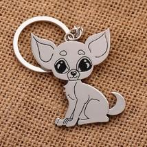 Chihuahua Keychain Key Chain Cute Mini Puppy Dog Bag Charm Animal Metal ... - $7.69