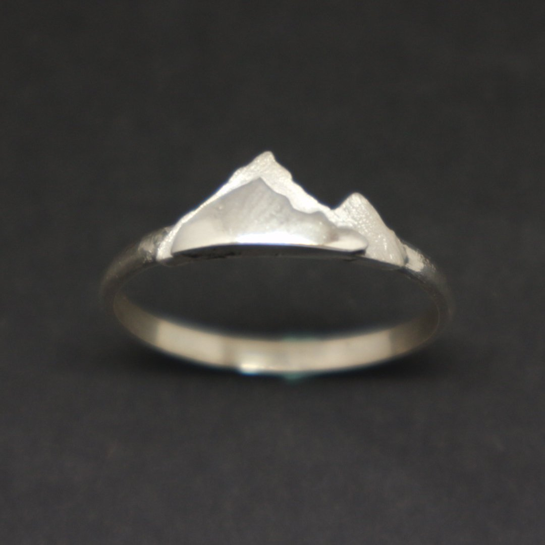 Silver Mountain Layered Ring