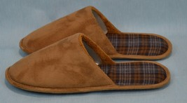 MENS Club Room Moccasin Slip-On Slipper Faux Suede Brown Mark Sz XL 11-12 - $59.14 CAD