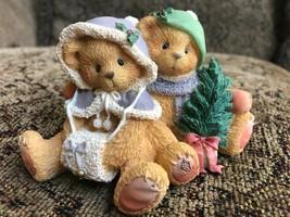 "Cherished Teddies 141216 Cheryl & Carl ""Wishing You A cozy Christmas"" 1996 - $5.00"