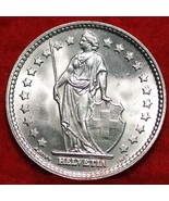 1943 Switzerland 2 Francs rare Silver Coin AU Nice! - $12.00
