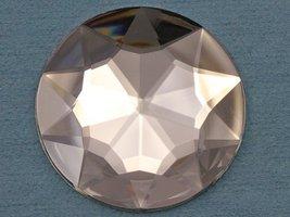 KraftGenius 43mm Crystal H102 Large Flat Back Round Acrylic Rhinestones Plastic  - $7.23