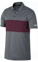 Nike Victory PGA Tiger Style Golf Polo 833067 Gray Maroon Mens 2XL NEW - $53.90