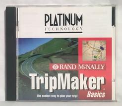 Vintage Rand McNally TRIPMAKER BASICS Software CD-ROM Windows 95 NT Map ... - $8.90
