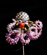 Rare Couture Octopus stickpin - CYNTHIA CHUANG - porcelain handcrafted l... - $245.00