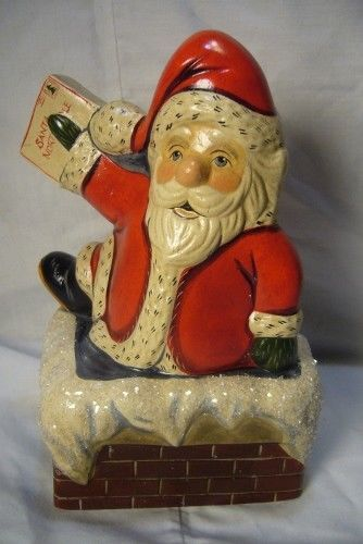 Vaillancourt Folk Art Santa to Letters Personally Signed by Judi Vaillancourt