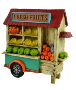 """Fairy Garden 10"""" LED Fresh Fruit Cart Stand, Miniature Farmer's Market Cart - $45.99"""