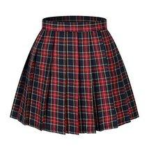 Beautifulfashionlife Women`s Japan High Waist School Plaid Pleated Cotton Skirts - $25.73