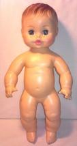 "Vintage 1970's 13"" HORSMAN Softskin Vinyl Baby Doll Sleep Eyes Drinks & Wets - $14.84"