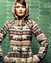 Anthropologie Archival Collection: Fair Isle Sweater Coat by Sparrow Sz ... - $289.99