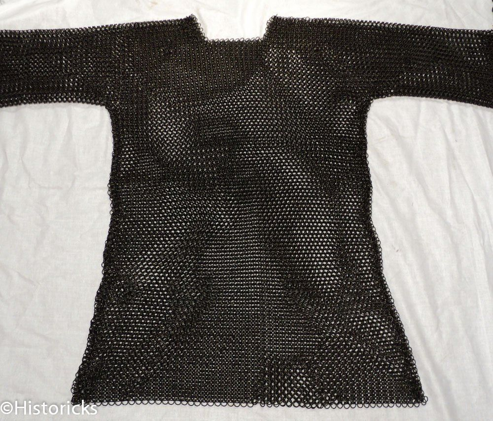 Primary image for NauticalMart Medieval Black Butted Steel Chainmail Shirt Role-Play Re-Enactment