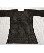 NauticalMart Medieval Black Butted Steel Chainmail Shirt Role-Play Re-En... - $189.00
