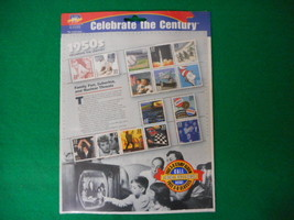 Celebrate the Century 1950's Mint Stamp Sheet NH VF Original pk - $5.57