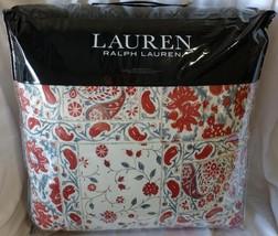 $330 New Ralph Lauren Kelsey Floral Red Blue King Comforter - $129.99