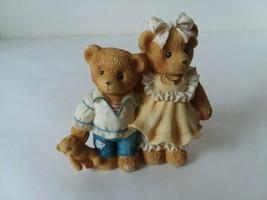 Bernard and Bernice 1996 Priscilla Hillman Brother Sister Teddy Bear Fig... - $8.70