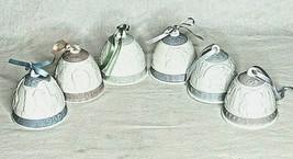 Lladro Bell Ornaments Nativity Angel Vintage 1990-1995 Lot of 6 Ceramic ... - $79.19