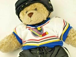 BUILD-A-BEAR Bear In Hockey Uniform Babw Jersey Pants Helmet Teddy Bear - $19.99