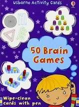 50 BRAIN GAMES (ACTIVITY CARDS) By Lucy Beckett-Bowman -=FREE Shipping=- - $10.93
