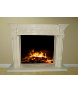 White Marble Fireplace Surround Mantel Living Family Great Room FPS-16 6... - $2,898.00