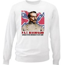 Pierre Gustave Toutant Beauregard - New White Cotton Sweatshirt - $33.08
